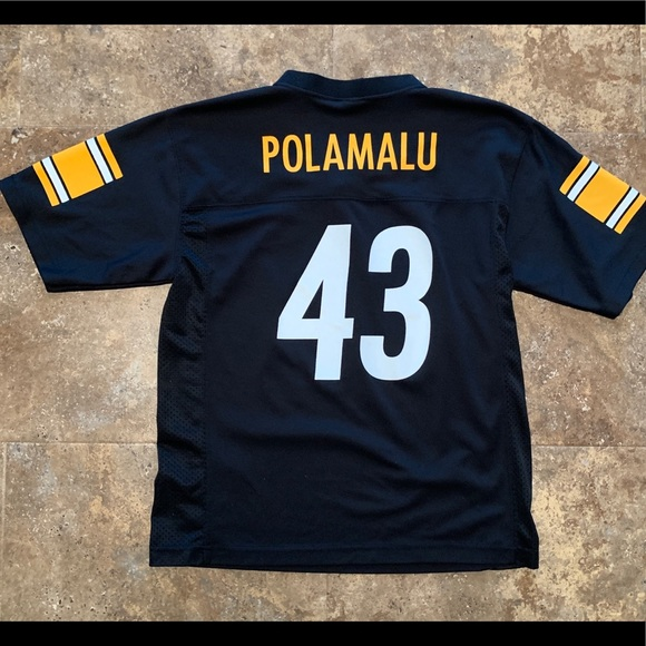 on sale d86c6 e0917 Pittsburgh Steelers Polamalu Youth Large Jersey